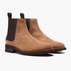 56991f057 Men's Honey Suede Duke Chelsea Boot - Thursday Boot Company